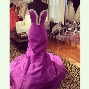 Purple Mermaid Jovani Prom Gown